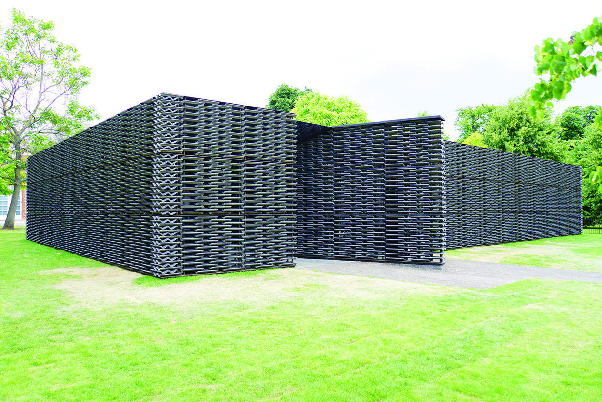 An Interesting Use Of Roof Tiles At Serpentine Gallery